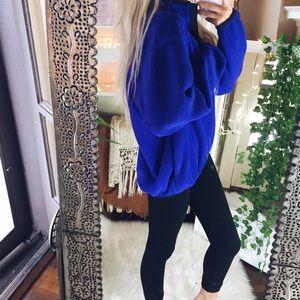 LL Bean Purple Fleece Pullover Jacket